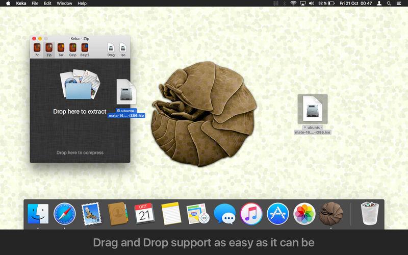 keka v1.1.16 虽丑但好用的压缩工具