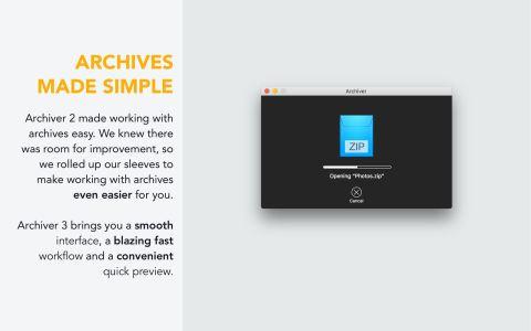 Archiver v3.0.6 简单实用且功能齐全的压缩解压工具