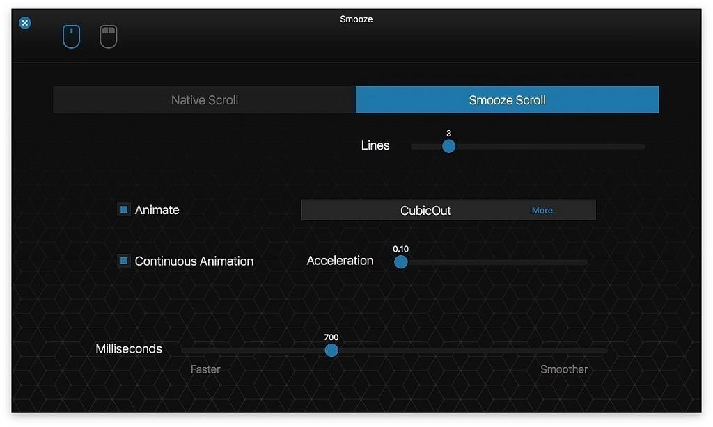Smooze v1.7.4 macOS平台的鼠标增强软件