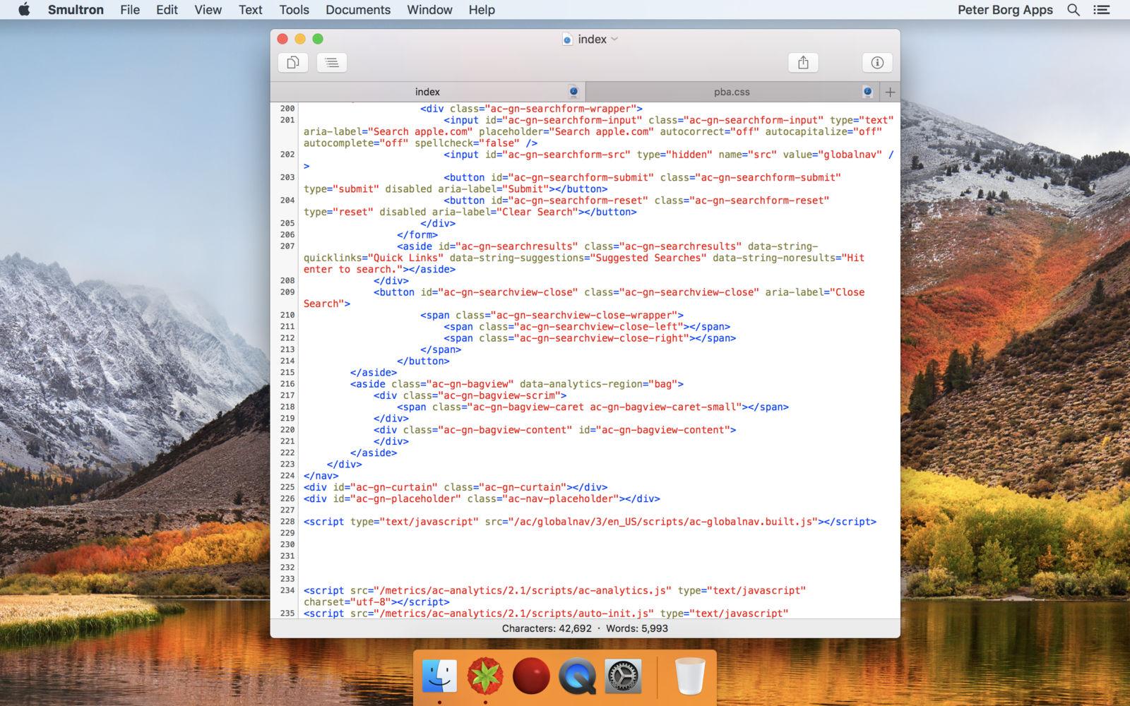 Smultron v11.2.4 一款优雅而强大的文本编辑器