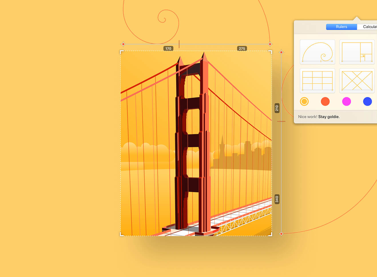 Goldie App v1.3.1 黄金比例计算工具